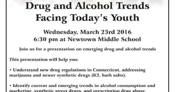 Presentation For Parents, March 23: Recent Drug And Alcohol